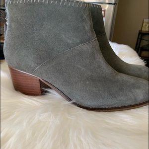 Leila Grey Suede Bootie